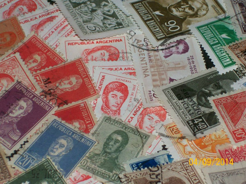 argentina - lote de 190 próceres y personajes ilustres dif.