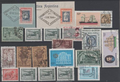 argentina lote de estampillas y fragmentos pde