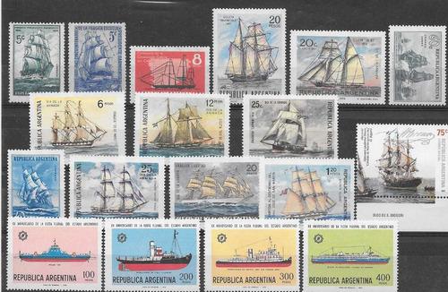 argentina lote temático barcos cat u$10