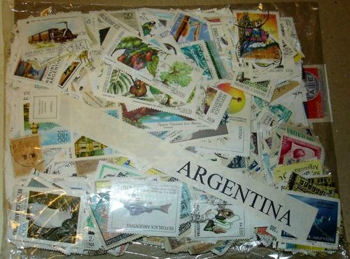 argentina - medio kilo de estampillas