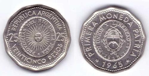argentina moneda 25 pesos 1965