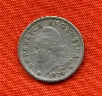 argentina moneda de 5 centavos1939 libertad mb estado olivos