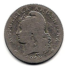 argentina moneda de niquel de 20 cts. año 1918