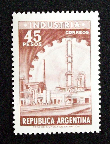 argentina - sello gj 1315 industria 45p hueco mint l2199