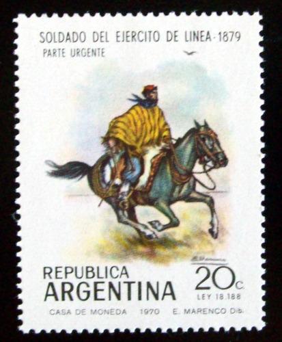 argentina, sello gj 1519 uniforme soldado linea mint l4968