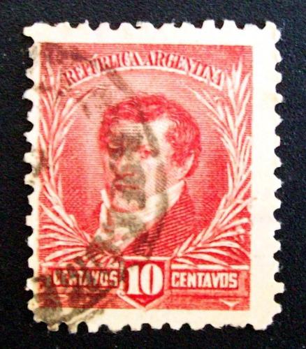 argentina - sello gj 179 10c. matasello bolsa comercio l3355