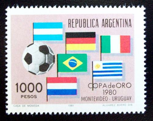 argentina, sello gj 1974 fútbol copa de oro 80 mint l5197