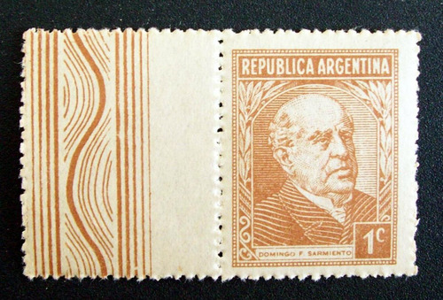 argentina sello gj 803cz sarmiento 1c. sf complem mint l2016