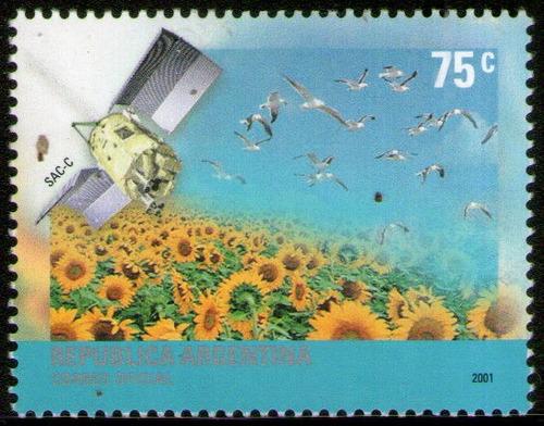 argentina serie x1 sello mint protección medio ambiente 2001