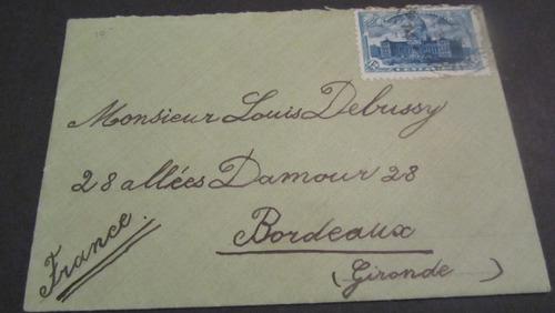 argentina - sobre año 1910 a bordeaux francia,raro de ver