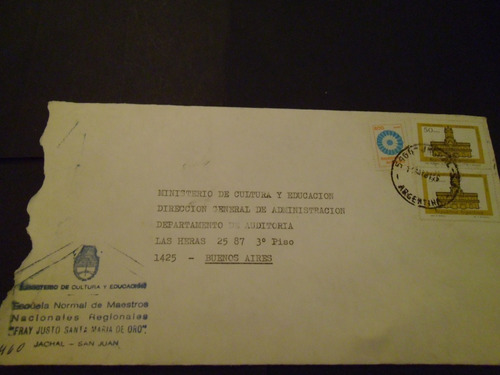 argentina - sobre correspondencia oficial usado buen estado