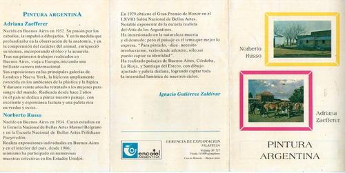 argentina volante filatélico pinturas de russo y zaefferer