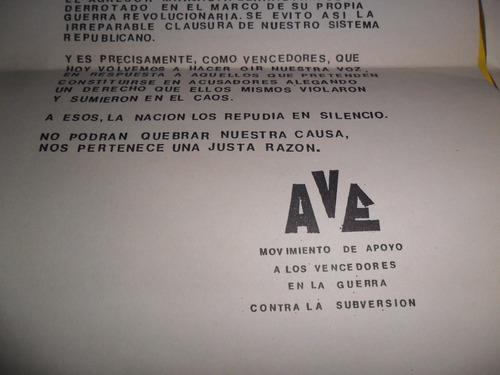 argentinos a las cosas movimiento apoyo guerra subversion