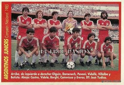 argentinos juniors campeão da libertadores 85