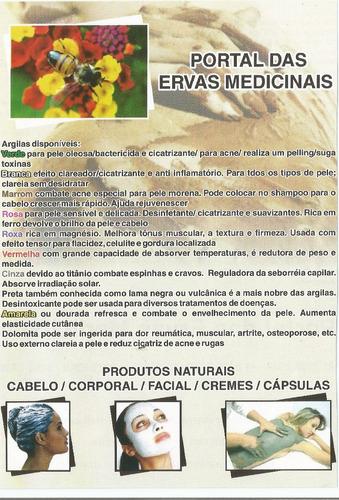 argila medicinal kit 4kg com 9 opções de cores para escolha