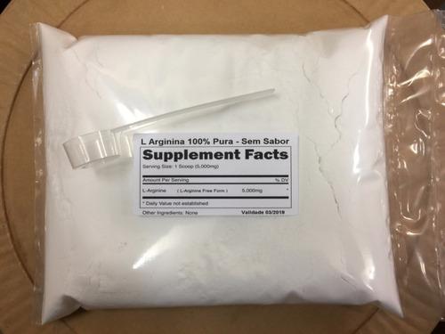 arginina pura 100% 1000g l-arginina  melhor vasodilatador