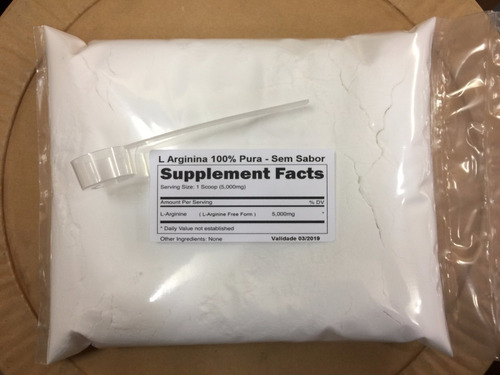 arginina pura 100% 1000g l-arginina muito melhor que dilatex