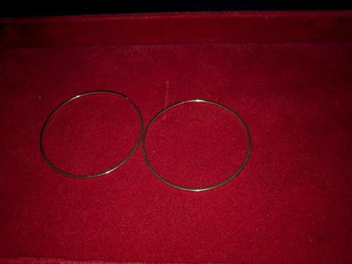 argolas redondas de fio retângulo em ouro amarelo 18 k