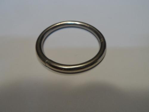 argolla 30 mm o 3 cms nickelada o plateada calibre grueso