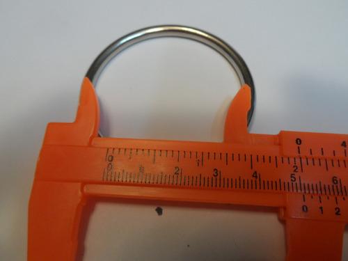 argolla 50 mm o 5 cms nickelada o plateada calibre grueso