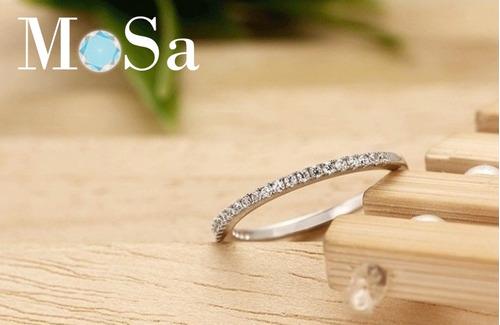 argolla anillo de boda fina de plata .925  zirconia