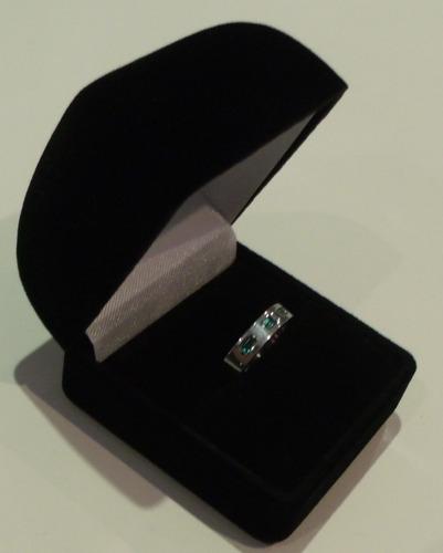 argolla, anillo para matrimonio en plata 999, con esmeraldas