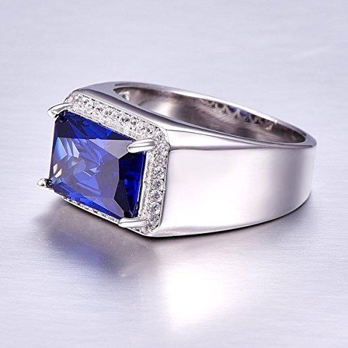 e875d032ed99 Argolla Anillo Plata 925 Piedra Radiante Azul Para Hombres ...