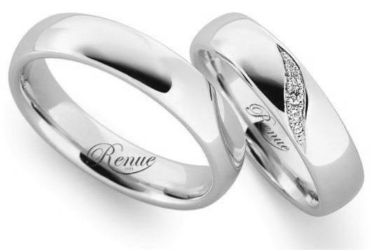 d145364fae1a Argolla De Matrimonio Oro Blanco 18k C u Compromiso Anillo -   867.400 en  Mercado Libre