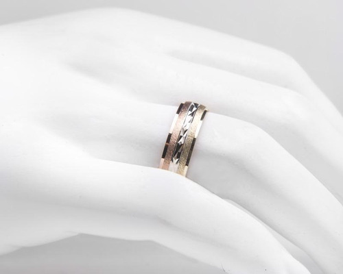 argolla de oro fonelli de 10 quilates no. 6 pm-8136133