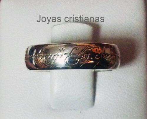 argolla del amor el señor de los anillos plata oro esmeralda