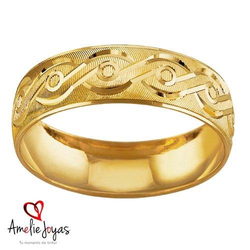 argolla matrimonial amelie joyas oro sólido 10k