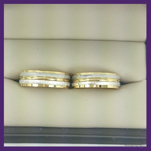 argollas comfort chapa oro 24k paquete completo gratis