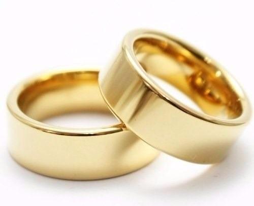 6dfb18deaad0 ... Bodas De Acero  Argollas- Compromiso -bodas-acero -enchape -oro 18