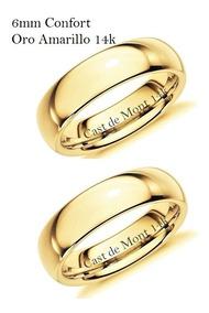 para toda la familia baratas mejor amado Argollas De Matrimonio 6mm Confort Par! Anillos Boda Lisa14k