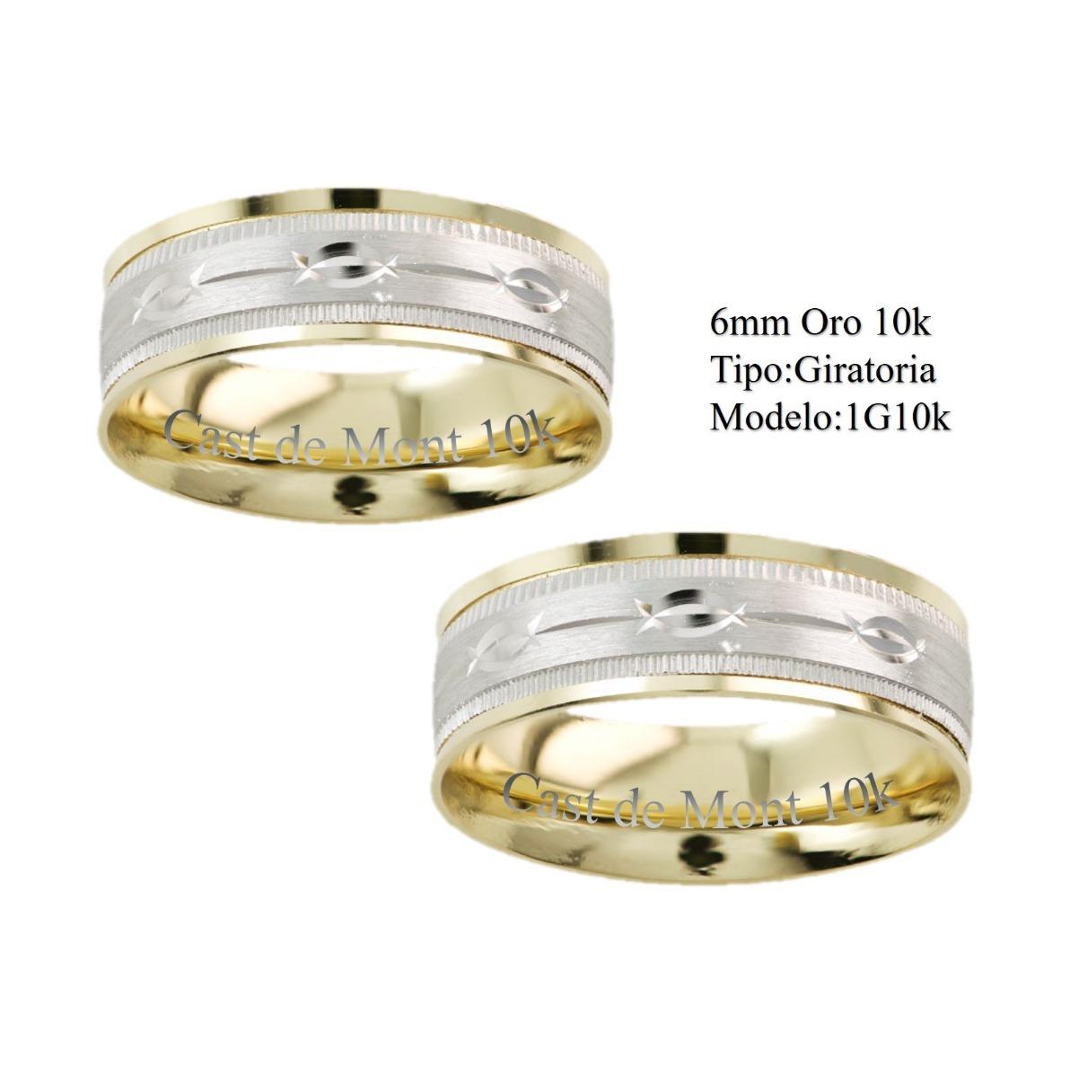 d2fe0e14c96b argollas de matrimonio 6mm giratoria anillos de boda oro 10k. Cargando zoom.