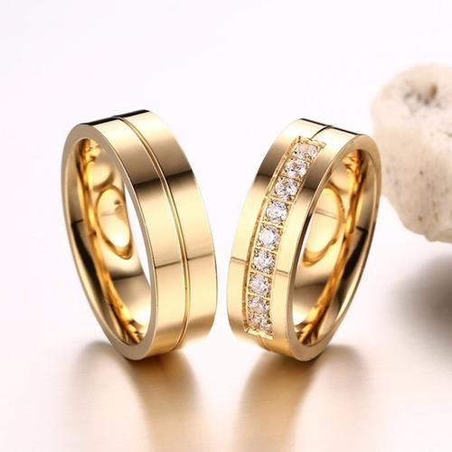 argollas de matrimonio alianzas aros de boda baño de oro 18k