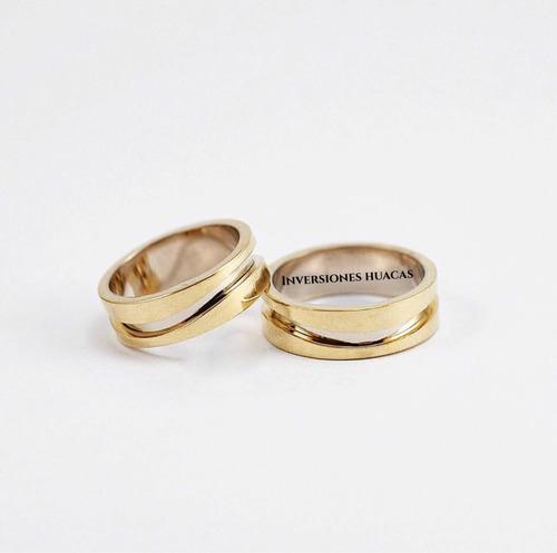 argollas de matrimonio, aros de boda oro amarillo 18k