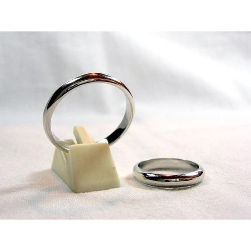 argollas de matrimonio de plata & platino de 3 mm