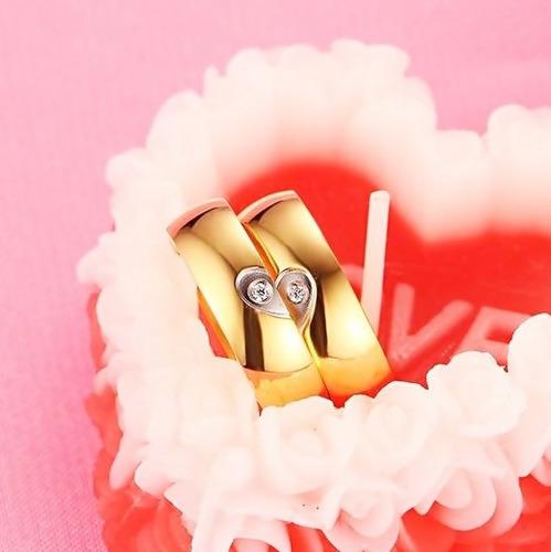 argollas de matrimonio en plata 925 y baño de oro modelo n01