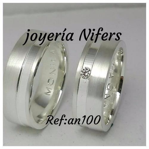 argollas de matrimonio en plata ley 950