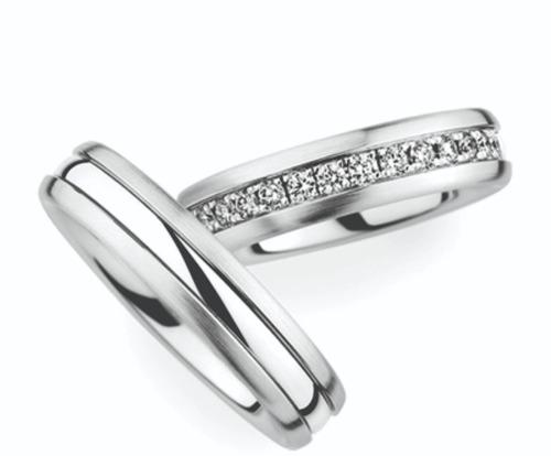 argollas de matrimonio oro blanco 14 kt  c/u am020