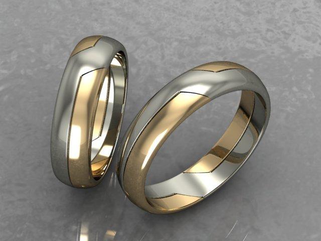 20f7bcb69f90 Argollas De Matrimonio Oro Blanco Y Amarillo 14 Kt Am030 ...