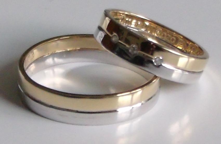 1b9671d3400b Argollas De Matrimonio Oro Blanco Y Amarillo De 18k