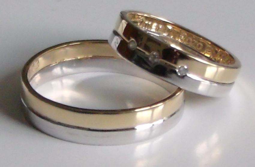Precio Matrimonio Catolico Bogota : Argollas de matrimonio oro blanco y amarillo k unidad