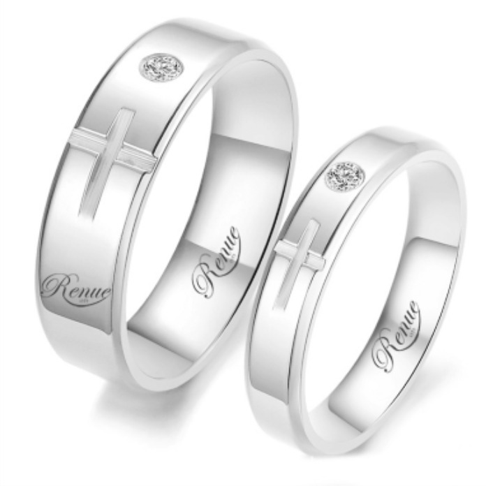 a22f5410a5c3 Argollas De Matrimonio Plata Baño Oro Blanco Compromiso C u -   76.400 en  Mercado Libre