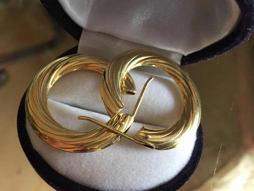 argollas de oro italiano 750 nuevas, 7,7 grs. en gratis
