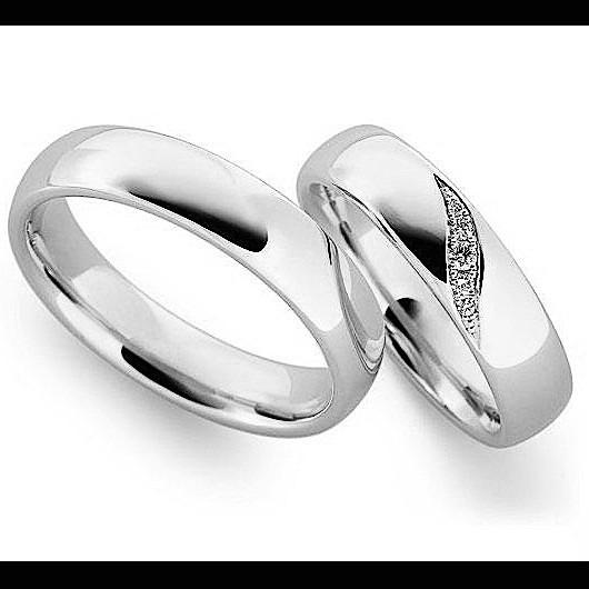 448795f4504a Argollas Matrimoniales En Plata Y Platino Modelos A Elegir ...
