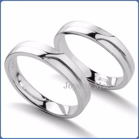 argollas matrimoniales oro blanco 10kt macizas envío gratis
