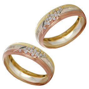 130cf153f6f5 Aretes De Utileria Oro Zirconias - Argollas de Matrimonio en Mercado ...