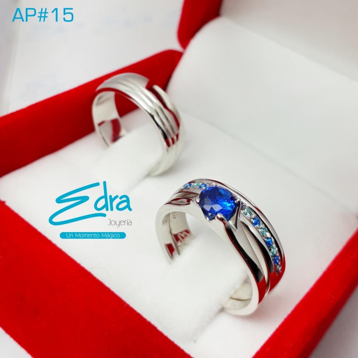 365579623850 Argollas Matrimonio Anillo Compromiso Plata 950 Rodio -   450.000 en ...